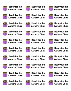 Writing Folder Ready for the Author's Chair Labels