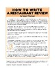 Informative Writing Fun: How To Write a Restaurant Review