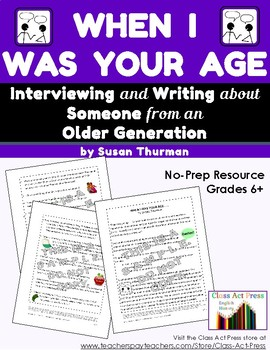Informative Writing: Interviewing Someone from An Older Ge