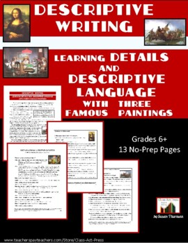 Writing Fun: Learning Details and Descriptive Language (13
