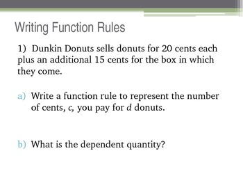 Writing Function Rules Powerpoint