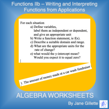 Writing Function Statements and Understanding Applications