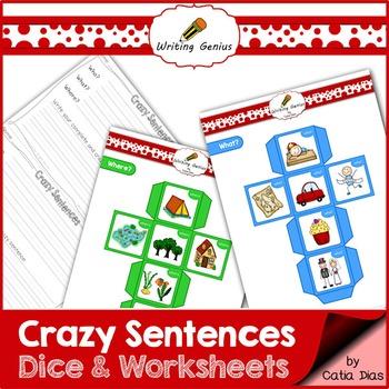 Crazy Sentences Dice