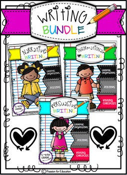 Writing Genres 3 in 1 Bundle!! (Opinion, Narrative & Infor