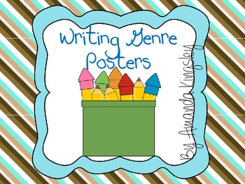 Writing Genres Posters