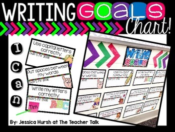Writing Goals Chart - Editable