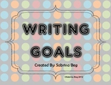 Writing Goals Long Clip Charts
