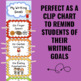 Writing Goals Clip Chart - Sports Theme