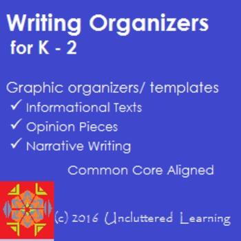 Freebie! Writing Graphic Organizers K-2 Informational, Nar