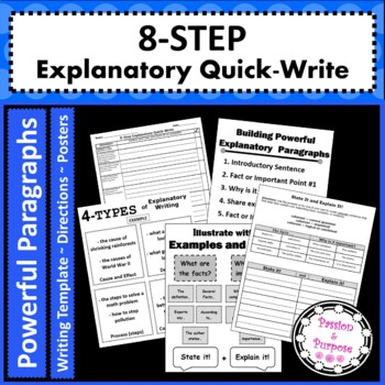 Informative Writing in 8 Easy Steps with Template, Tasks,