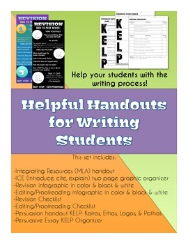 Writing Handouts: ICE, Editing, Revising, Citing