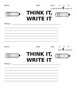 Think It, Write It (Writing Homework)