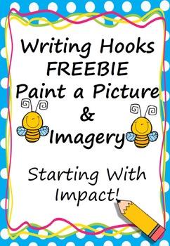 Writing Hook Imagery FREEBIE (Starting With Impact) Americ