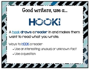 Writing - Hook Poster