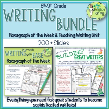 Writing BUNDLE! Building Great Writers and Paragraph of the Week