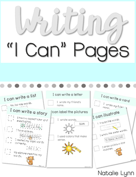 "Writing ""I Can"" Checklists"