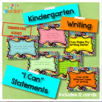 Writing 'I Can' Statements-Kindergarten-Common Core