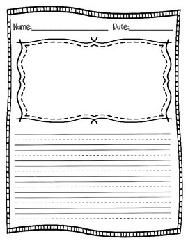 Writing & Illustration Template for Primary