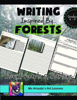 Forest Picture Prompts and Story Starters Writing Activity
