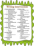 Writing Intervention