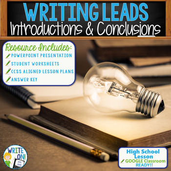 INTRODUCTIONS AND CONCLUSIONS - Several Methods - High School