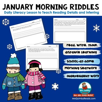 Writing -January Riddles- Literacy- Grades 1-2