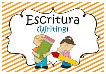 Writing Journal/Folder Label in Spanish