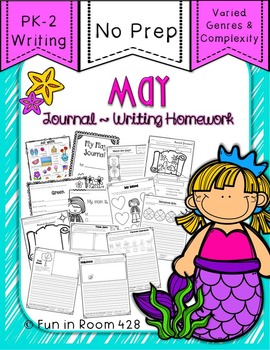 Writing Journal / Homework ~ May {No Prep}