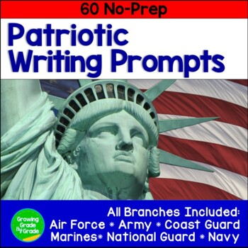 Writing Journal Prompts 60+ No-Prep: Celebrate Military Life