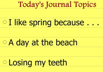 Writing Journal Prompts Set 3