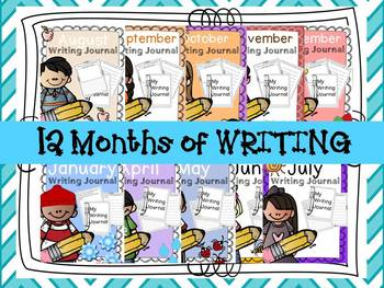 Writing Journal for the Year BUNDLE
