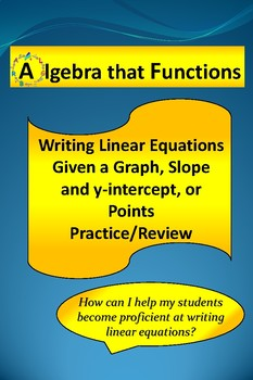 Writing Linear Equations Practice and Review