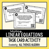 Writing Linear Equations (Given Point & Slope or Two Point