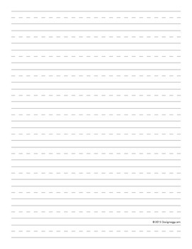 Writing Lines - 1st grade