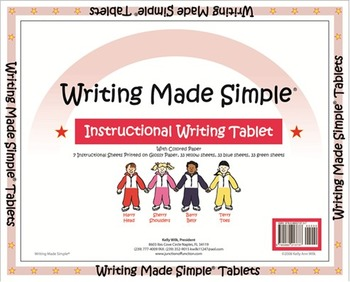 """Writing Made Simple"" Color Handwriting Tablet"