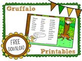 The Gruffalo: Free Kindergarten Literacy Activities