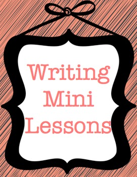 Writing Mini Lessons for Use with Writer's Workshop STAAR Sale!