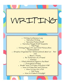 Writing Mini-Unit