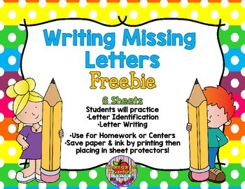 Writing Missing Letters
