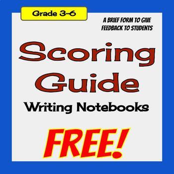 Writing Notebook Scoring Guide