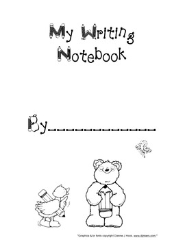 Writing Notebook Title Page