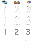 FREE Step by Step Writing Numbers 1-3