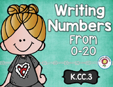 Writing Numbers From 0 to 20 Math Tasks and Exit Tickets