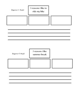 Writing Organizer with Lead Practice