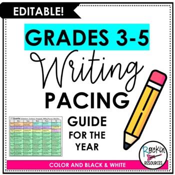 Writing Pacing Guide - FREE!