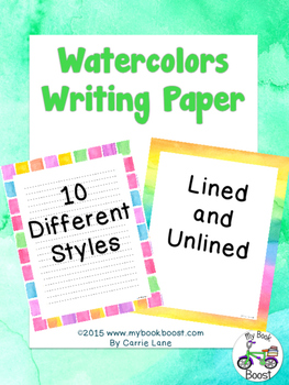Watercolors Writing Paper