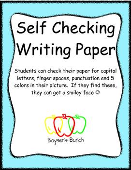 Self Checking Writing Paper