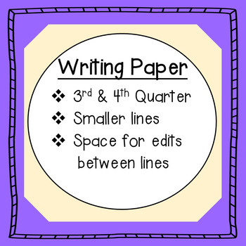 Writing Paper: with smaller primary lines and editing spac