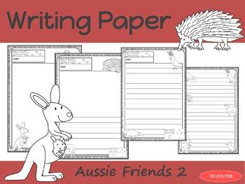 Writing Paper : Aussie Friends 2 : Standard Lines
