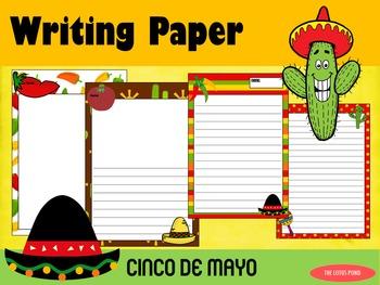 Writing Paper : Cinco de Mayo : Standard Lines